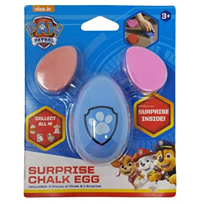 Nickelodeon Paw Patrol 3ct Chalk Surprise: Sidewalk Chalk with Toy Surprise Inside!, Multicolor: Toys & Games