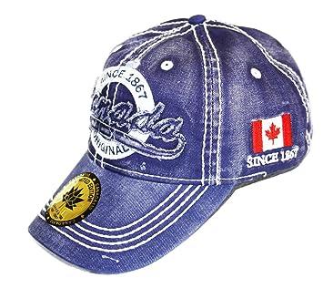 Vintage Denim Original Canada Baseball Cap Adjustable Hat - Navy Blue f22b387c808