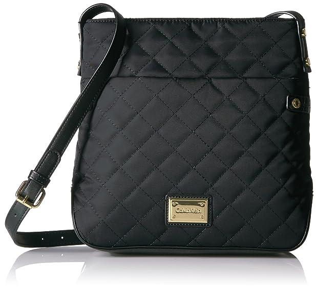 Calvin Klein Quilted Nylon Top Zip Crossbody, Black Quilt ... : calvin klein quilted handbag - Adamdwight.com