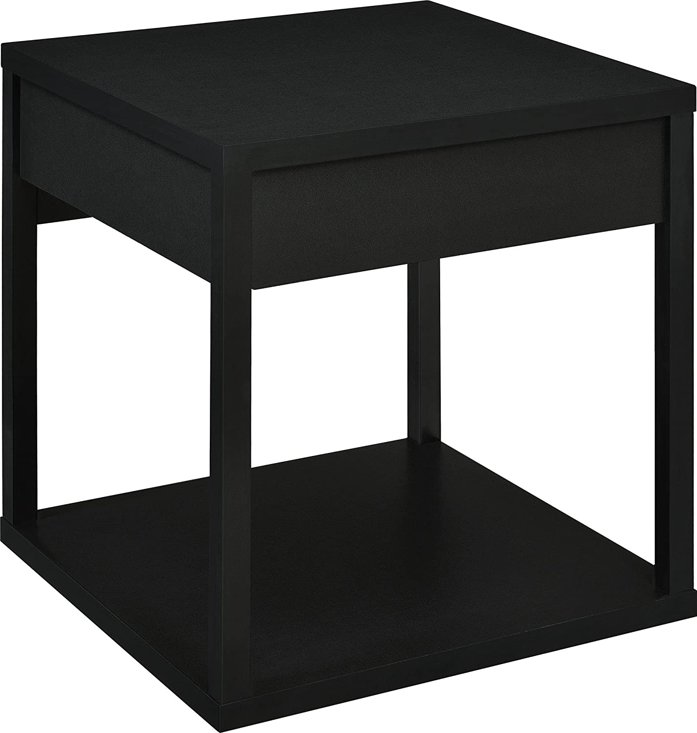 Amazon Parsons End Table with Drawer Black Kitchen & Dining
