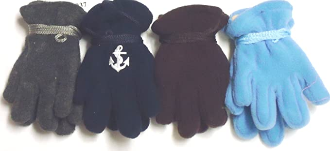 Set of Four Pairs Mongolian Fleece Mittens for Infants Ages 3-12 Months