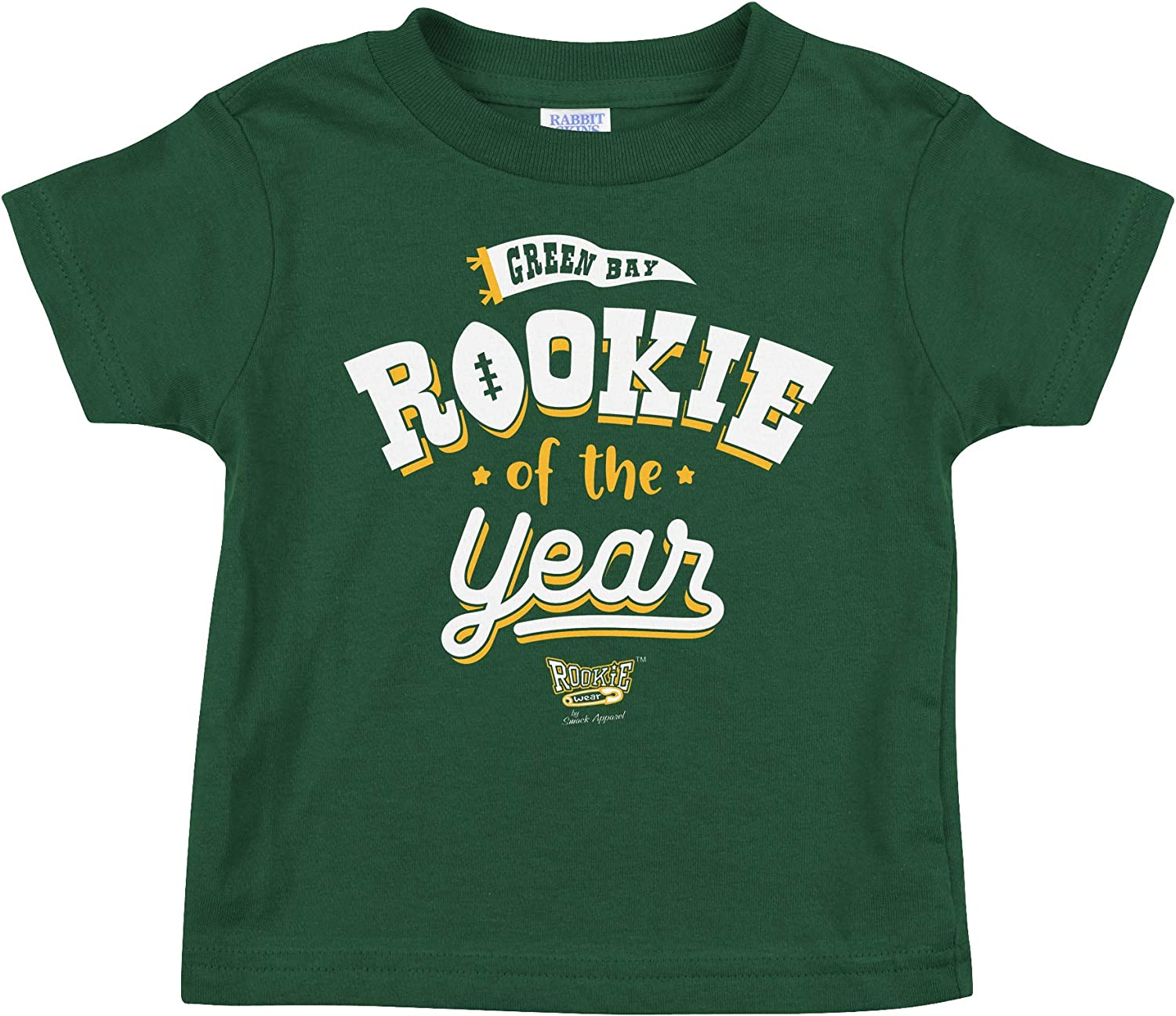 Green Bay Football Fans Rookie of The Year Forest Green Onesie or Toddler Tee NB-4T