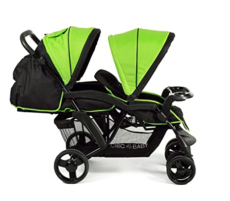 CHIC 4 Baby 273 47 Carrito Doppio, Negro de color verde, multicolor