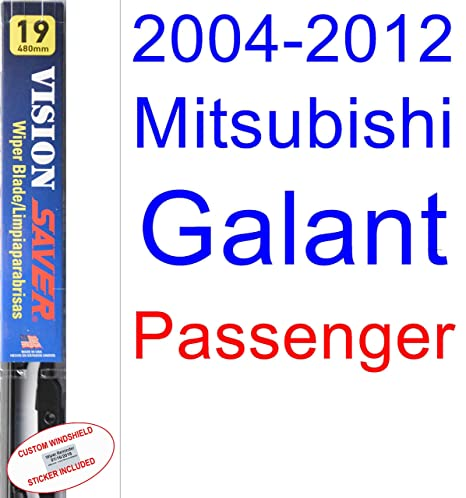 Amazon.com: 2004-2012 Mitsubishi Galant Wiper Blade (Passenger) (Saver Automotive Products-Vision Saver) (2005,2006,2007,2008,2009,2010,2011): Automotive
