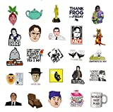 The Office Sticker Pack 57pcs - The Office Stickers for Laptops, Dunder Mifflin Stickers, The Office Laptop Stickers, Funny Stickers for Laptops, Computers, Water Bottles, Hydro Flasks