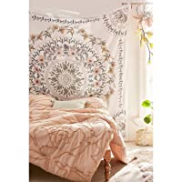 Simpkeely Sketched Floral Medallion Tapestry, Bohemian Mandala Wall Hanging Tapestries...