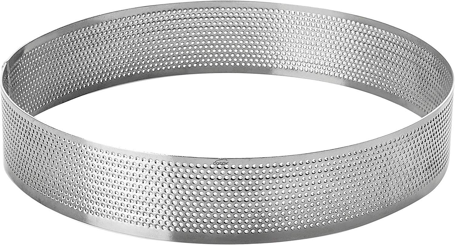 LACOR 68537 Perforated Cake Mould, 7 x 2 cm, Silver
