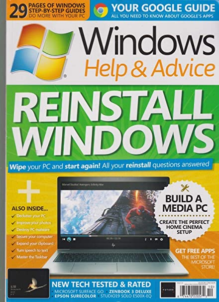 Amazon com: WINDOWS HELP & ADVICE MAGAZINE #153 OCT 2018, REINSTALL