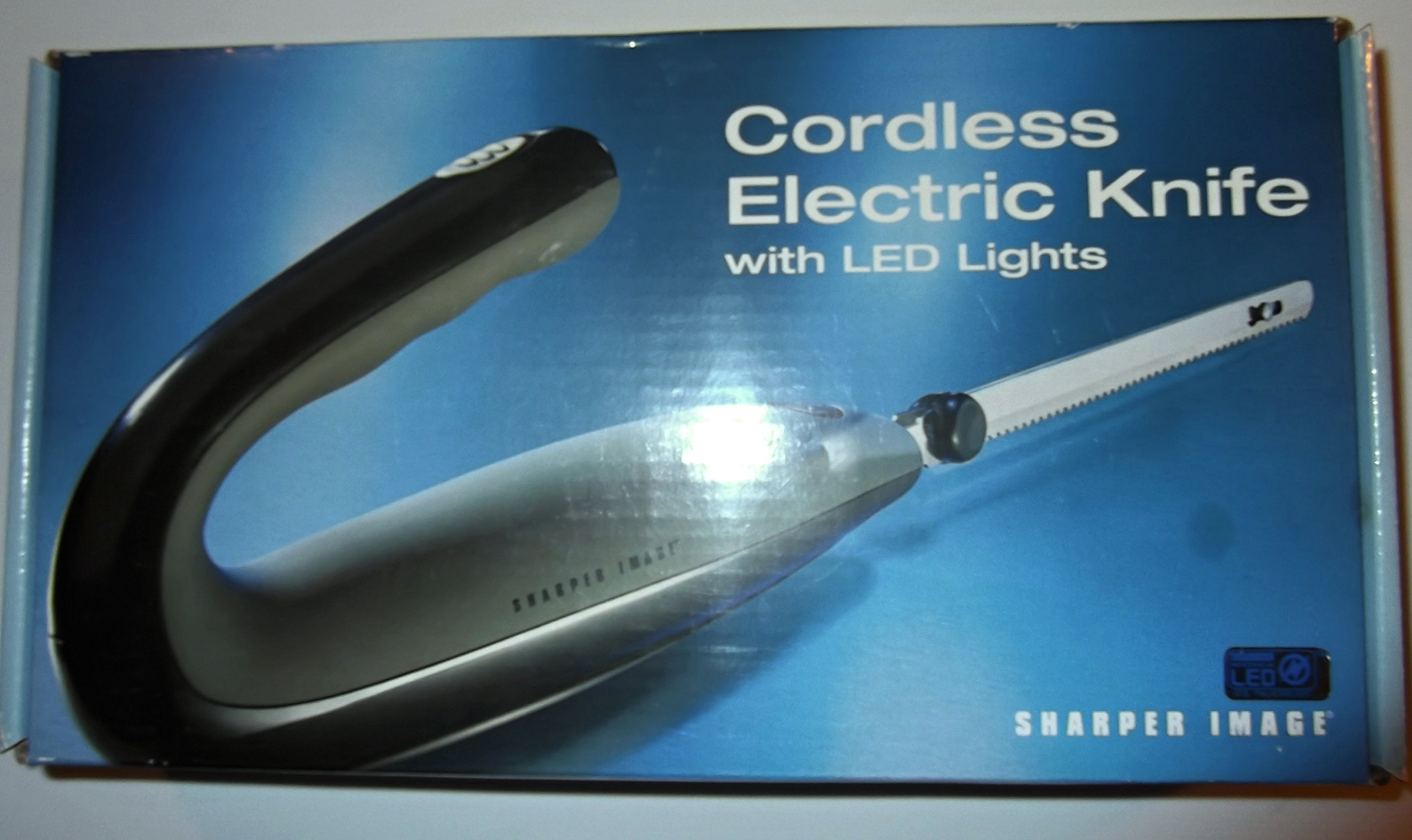 Sharper Image Cordless Electric Knife with LED Lights
