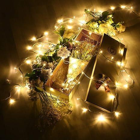 Foto Con Luci Di Natale.49ft 100 Led Luci Di Natale 8 Modalita Impermeabile E Allungabile Fata Luce Con Connettore 36v Dc Per La Decorazione Domestica