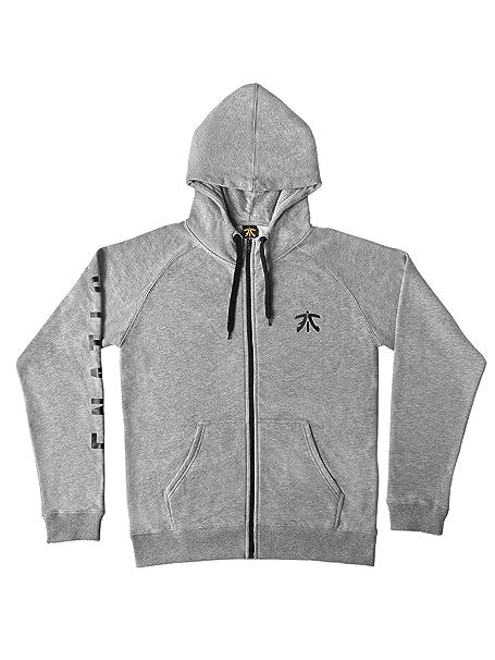 Fnatic HC Zipped Hoodie, Sleeve Logo, Melange Grey, XL