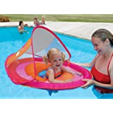 Swimways Baby Spring Float Sun Canopy - Pink Butterfly
