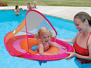 Baby Raft With Canopy Amp Aqua Leisure 174 Tot Sunshade Pool