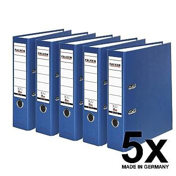 Falken Carpeta de polipropileno de colores, 3 y 5 unidades, color azul 5 unidades ancho: Amazon.es: Oficina y papelería