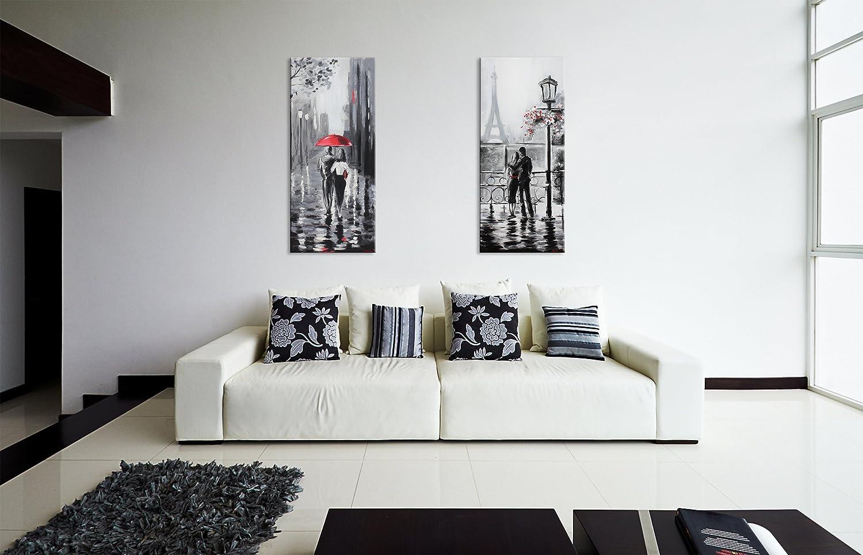 Arte Moderna Mano 115x50cm Tela  Unico  Grigio Muro YS-Art Quadro Dipinto  Con Colori Acrilici Dolce Novembre Dipinti Casa e cucina berjaya.edu.my