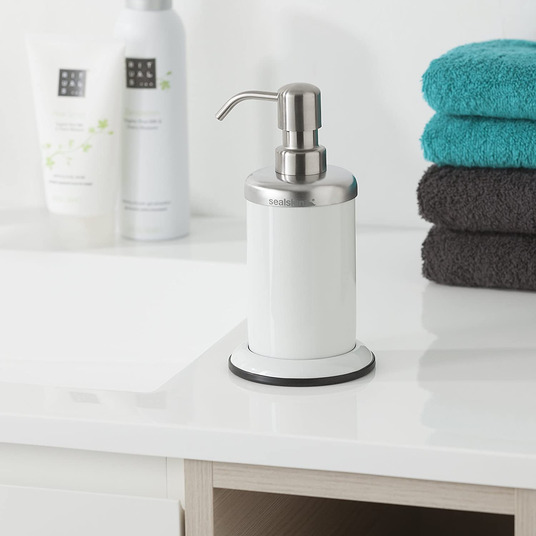 9.2 x 10.2 x 17.8 cm Sealskin Dispensador de Jab/ón Acero Acero Inoxidable Blanco