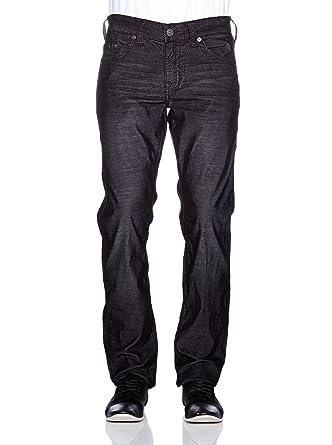 8a7b31956 Amazon.com  True Religion Men s Geno Slim Fit Corduroy Pants in Black   Clothing