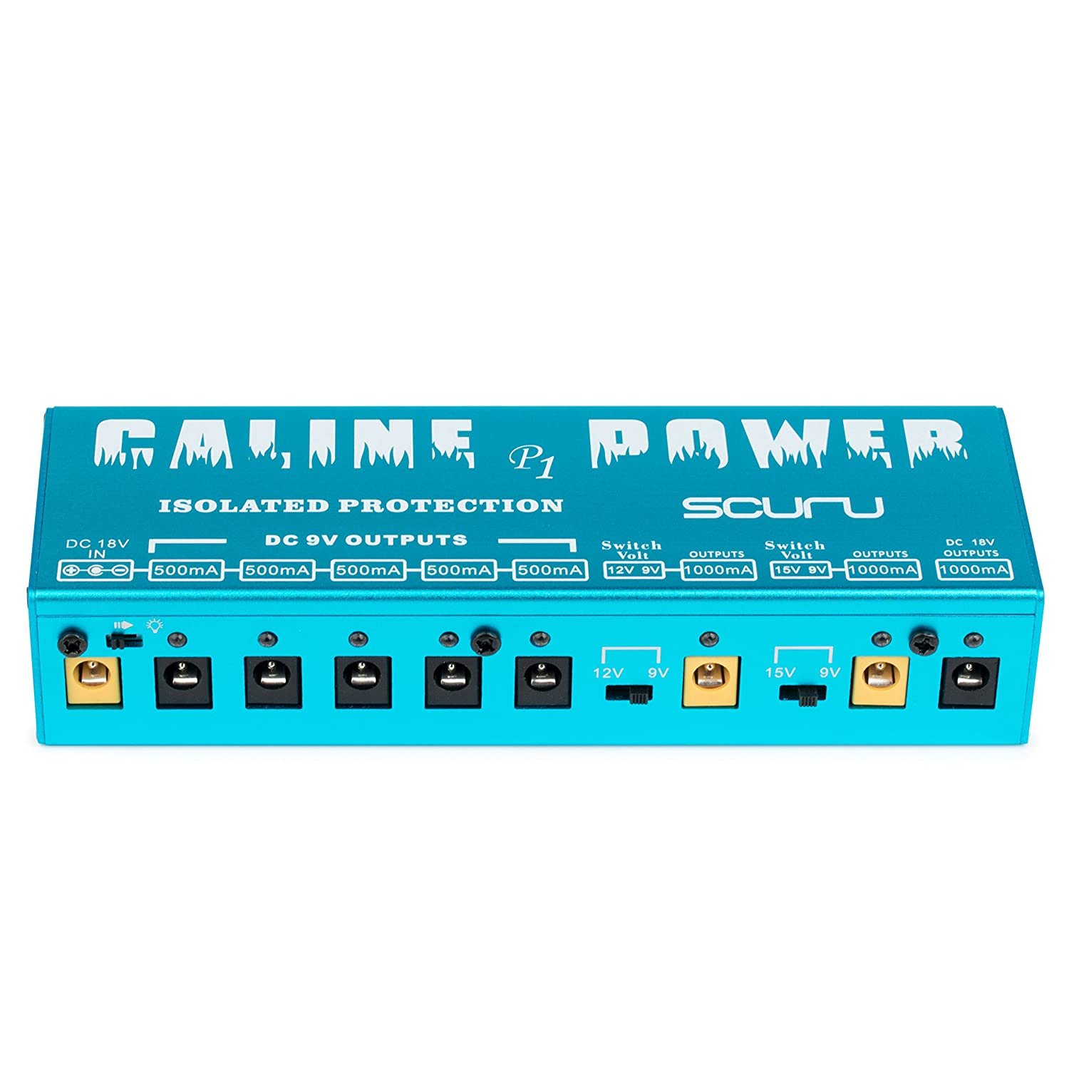 Caline P1 Pedal Power Supply SCURU 8 Way Isolated Protection 9V 12V 15V 18V Power Supply for Guitar Pedals