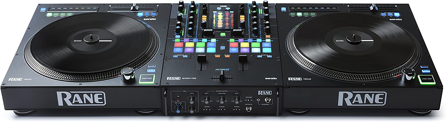 RANE DJ SEVENTY Two Channel DJ Mixer for Serato DJ with Akai Professional MPC Performance Pads Internal DJ FX and Three Contactless MAG FOUR Faders