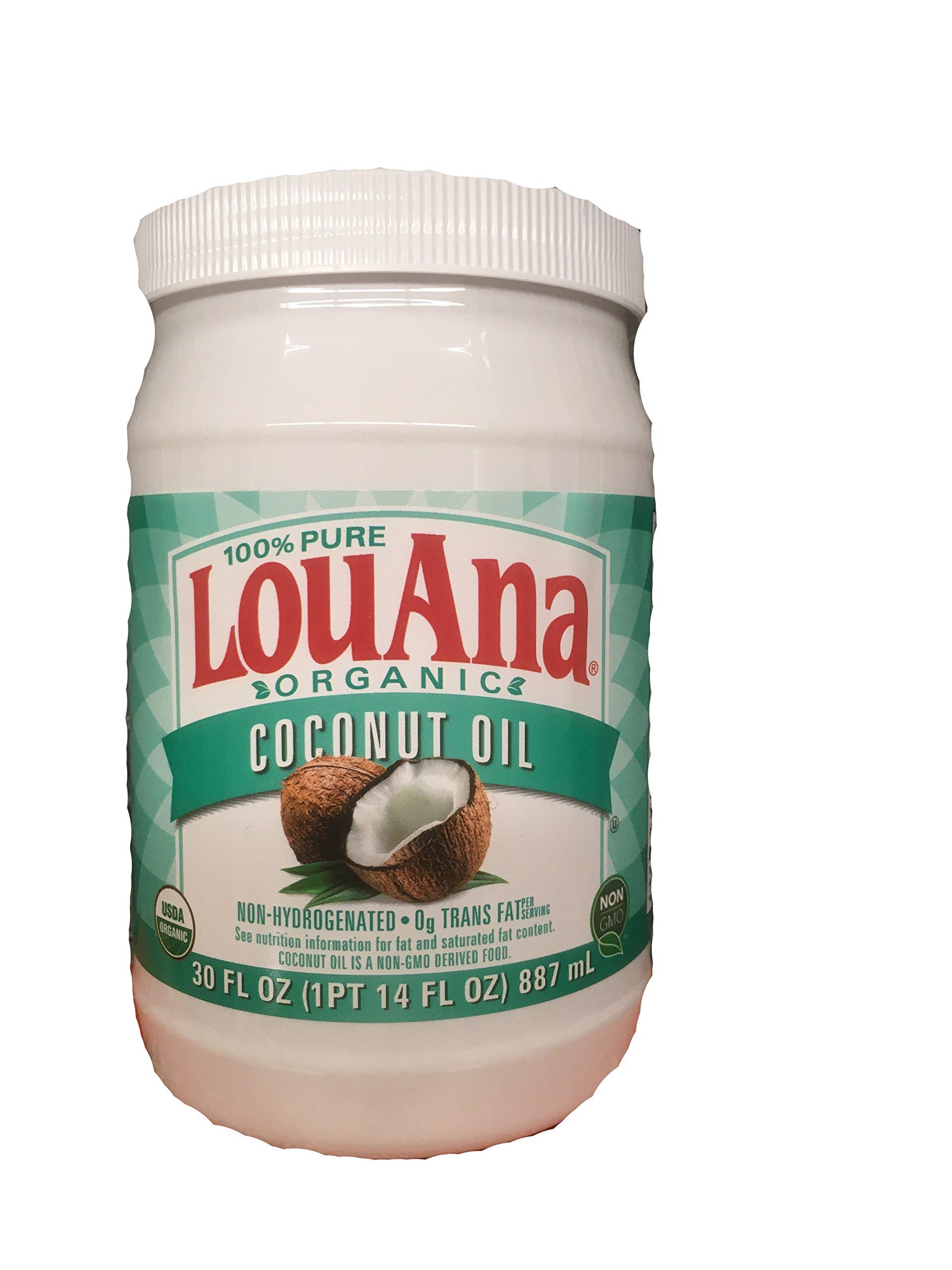LouAna 100% Pure Organic Coconut Oil (All Natural) 30 fl oz