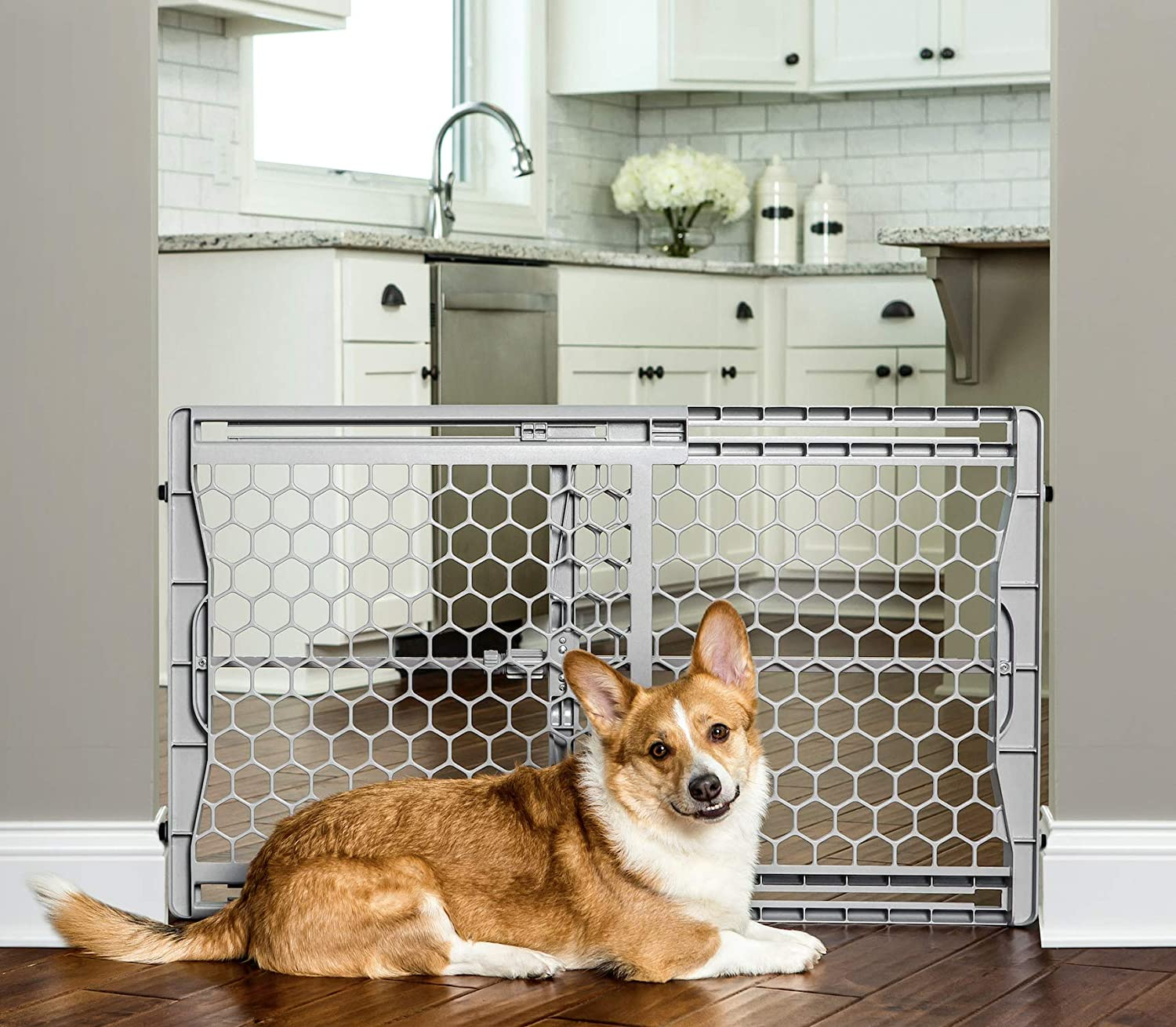 CDM product Carlson Easy Fit Plastic Adjustable Extra Wide Pet Gate big image