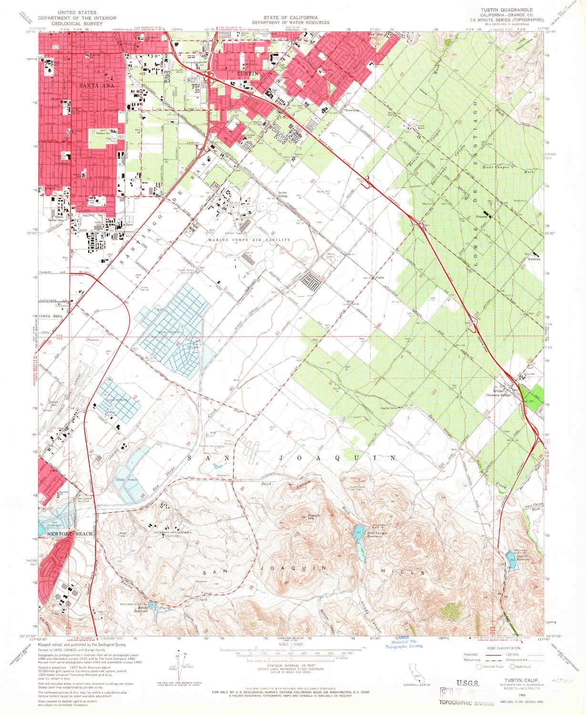 Amazon.com : YellowMaps Tustin CA topo map, 1:24000 Scale ... on city of rialto ca map, pasadena st tustin ca map, orange county tustin ca map,
