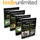 Homesteading Animals 4-Book Bundle: Rearing Rabbits, Chickens, Ducks and Geese. A comprehensive introduction to raising popular farmyard animals