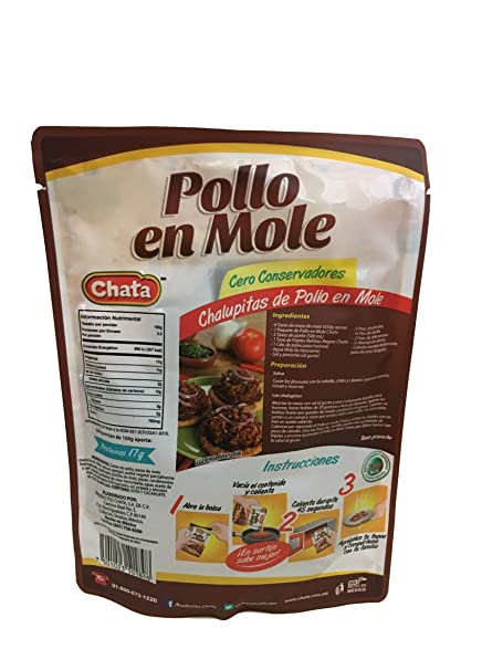 Amazon.com : Pollo en Mole, Mole Chicken 250 g - 8.8 oz - Chata : Grocery & Gourmet Food
