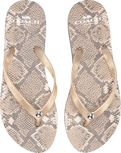 c94249a4c23502 Coach Women s Flip-Flop Natural 5 ...
