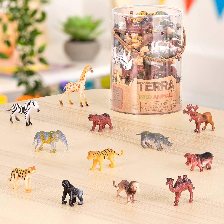 Terra North American Animaux Sauvages Forêt Figures lot jeu Toys Box par Battat