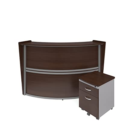 walnut office furniture. OFM Marque Series Single-Unit Curved Reception Station Package - Office  Furniture Reception/Secretary Walnut Office Furniture R
