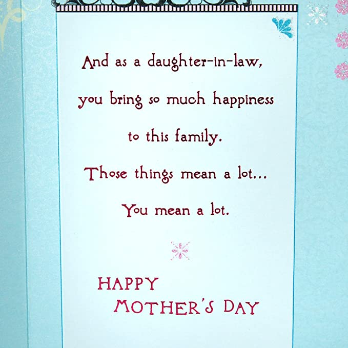 Hallmark Mother\'s Day Card for Daughter-in-Law (Compassionate and Fun)