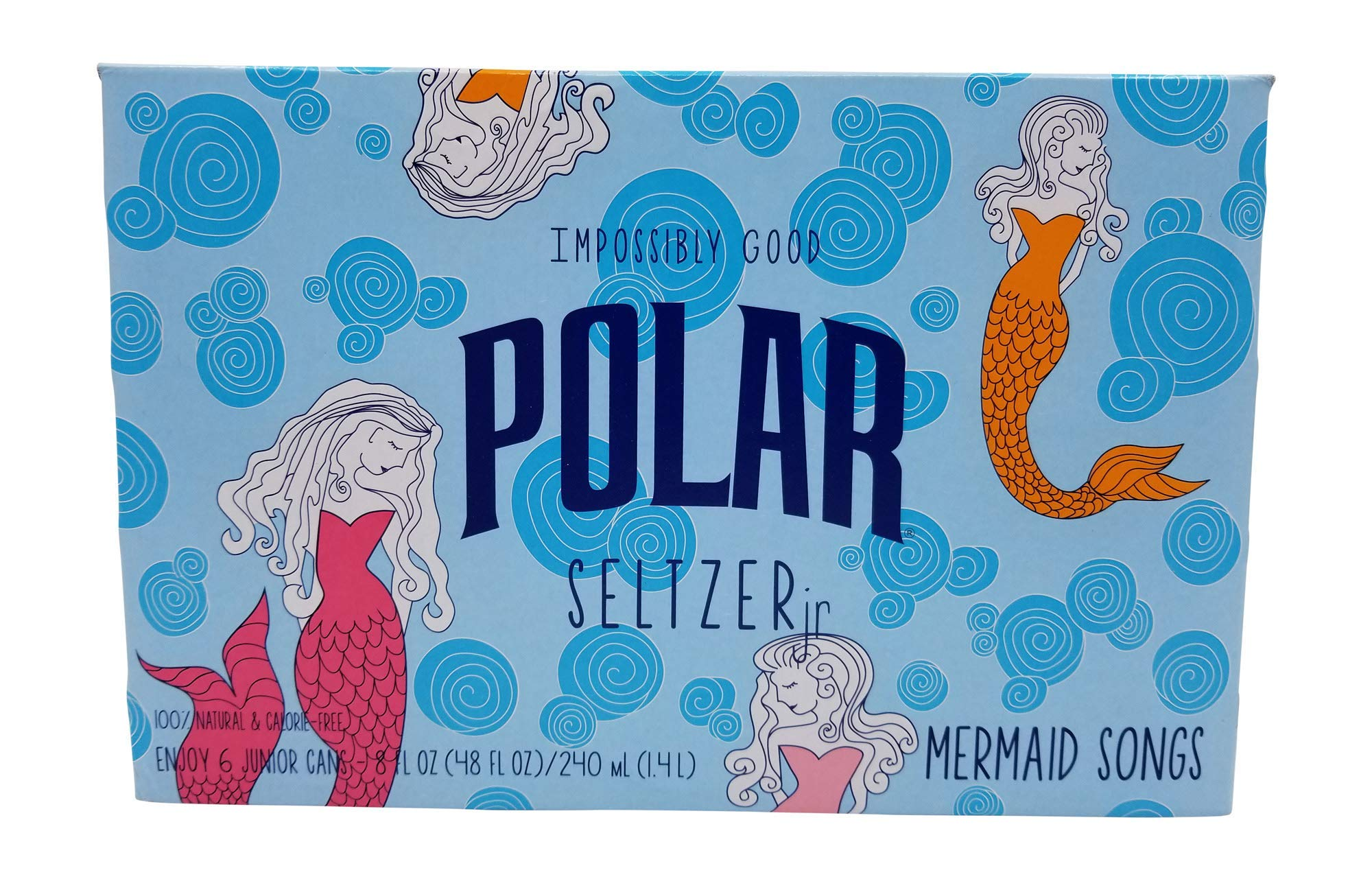 Polar Seltzer Impossibly Good Mermaid Song 6 pk 8 oz. cans. by Polar Beverages