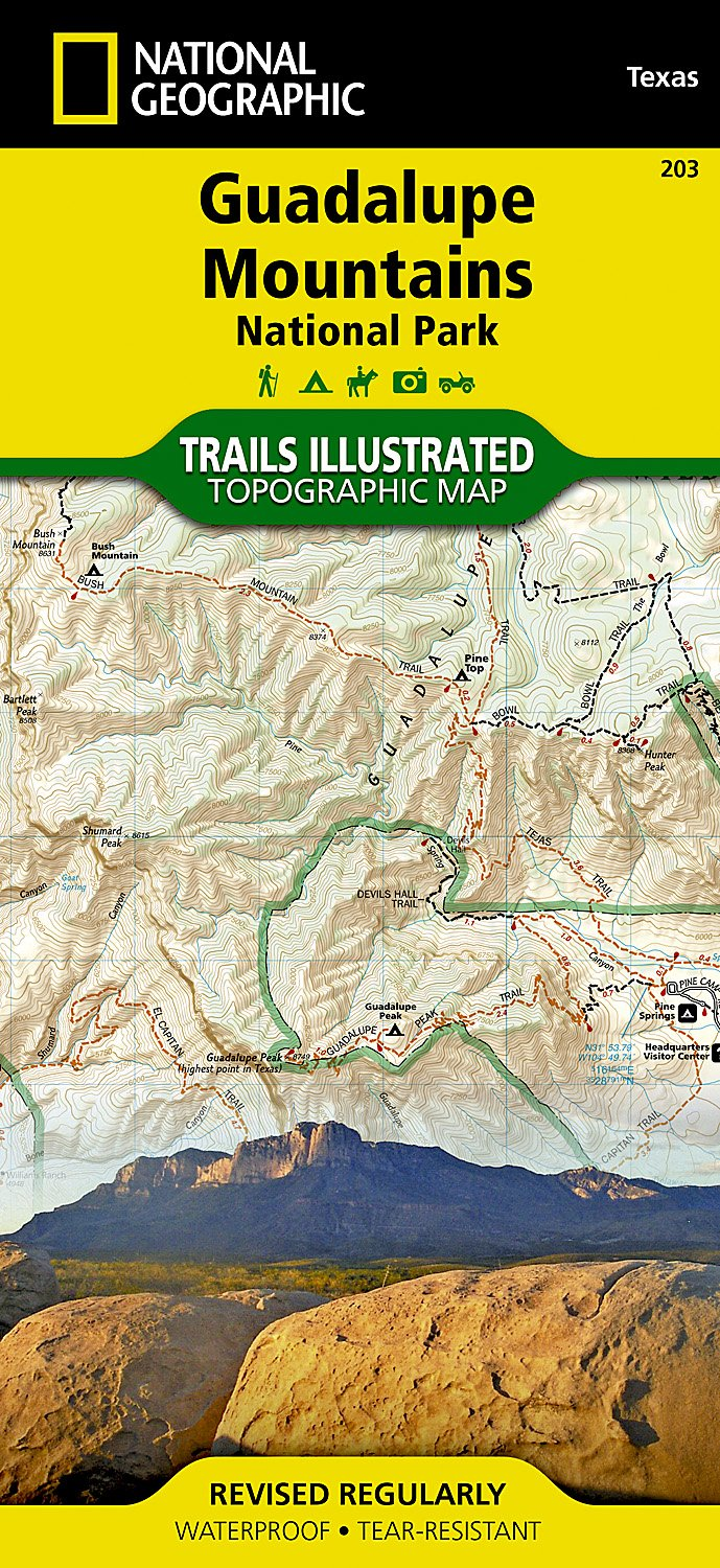 Guadalupe Mountains National Park National Geographic Trails