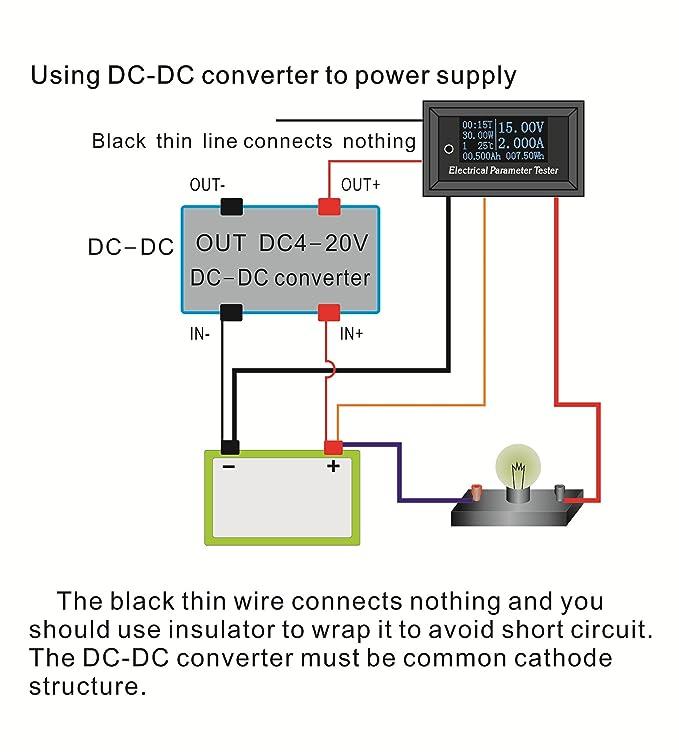 uniquegoods OLED DC Meter Panel Power Watt Voltmeter Amperemeter ...