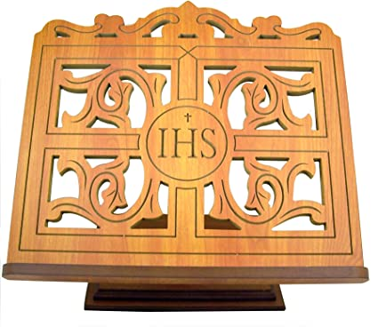 Amazon Carved Wood IHS Bible Or Book Display Stand With Ledge Delectable Bible Display Stand