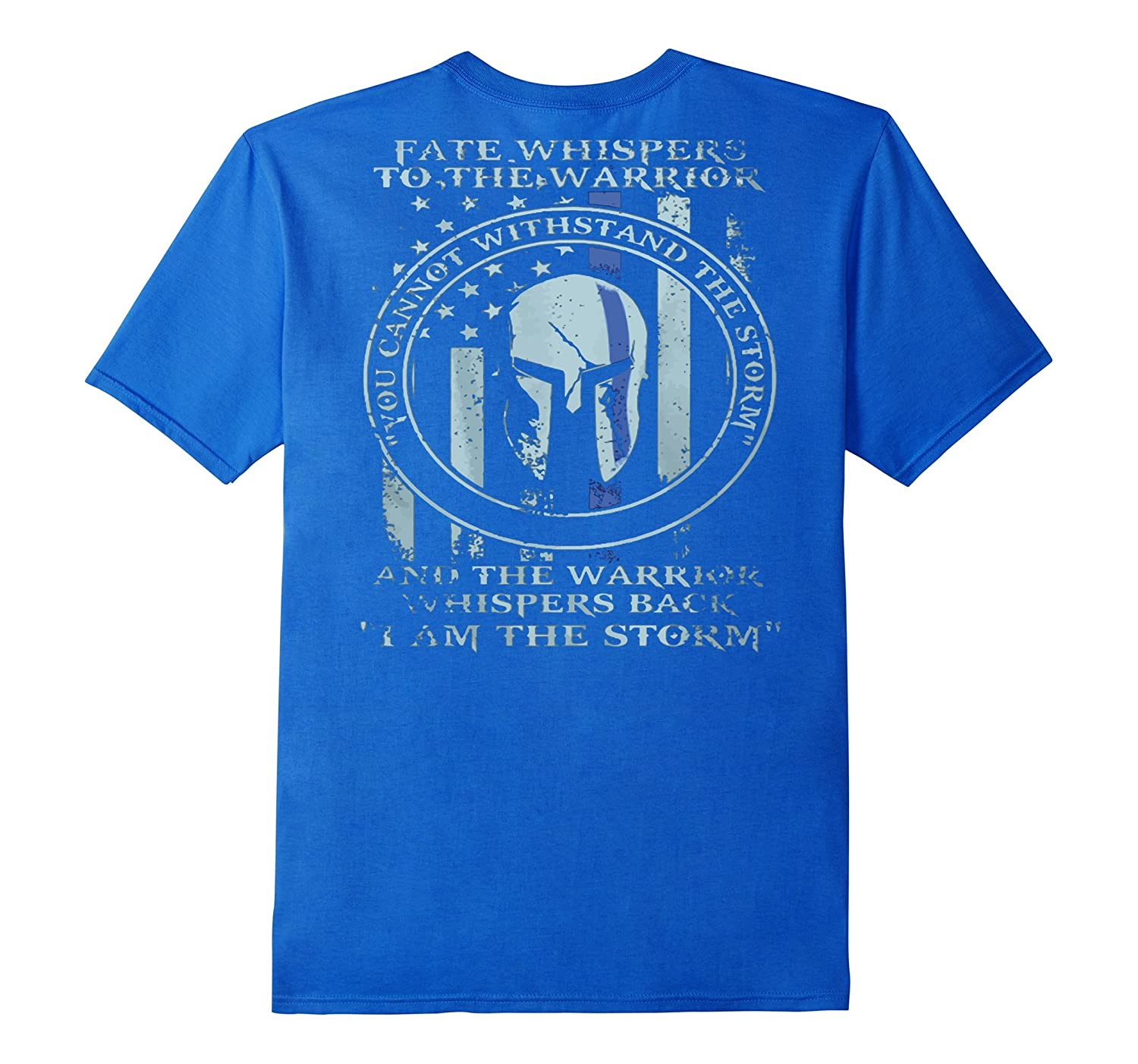 Thin Blue Line American Flag/K9/POLICE: I AM THE STORM shirt-BN