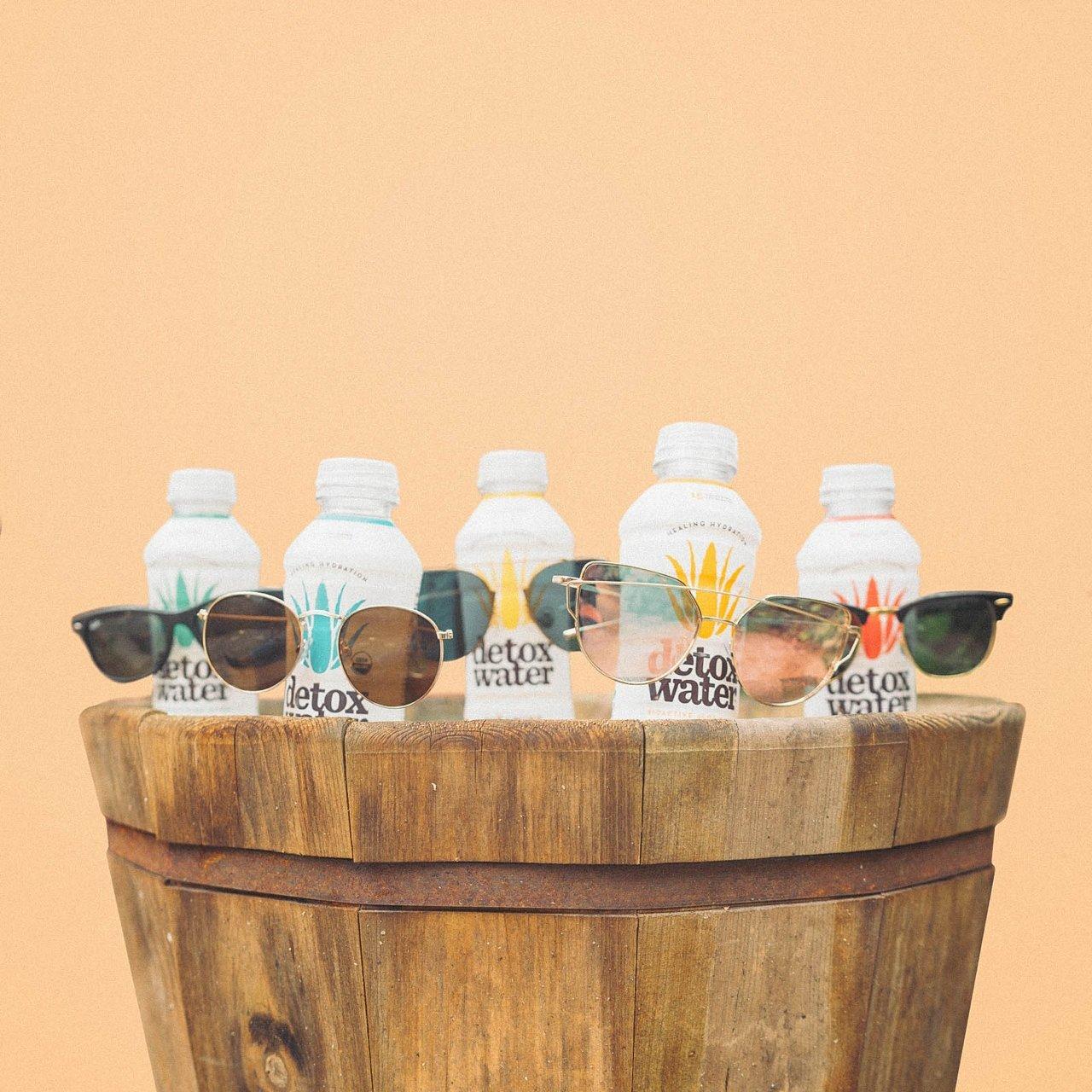 Detoxwater Prebiotic Aloe Water (Sampler Pack) - 16 Fluid Ounces, Pack of 6