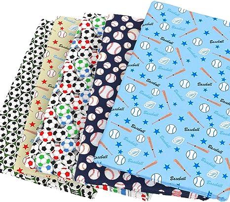 Telas para patchwork 50x160 Clarke&Clarke tejidos 100% algodón Fútbol Baloncesto Patchwork para pañuelo niños hogar textil costura Tilda muñeca 50145 cm (al azar): Amazon.es: Juguetes y juegos