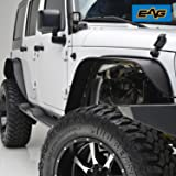 EAG Steel Fender Flares Front and Rear for 2007-2017 Jeep Wrangler JK