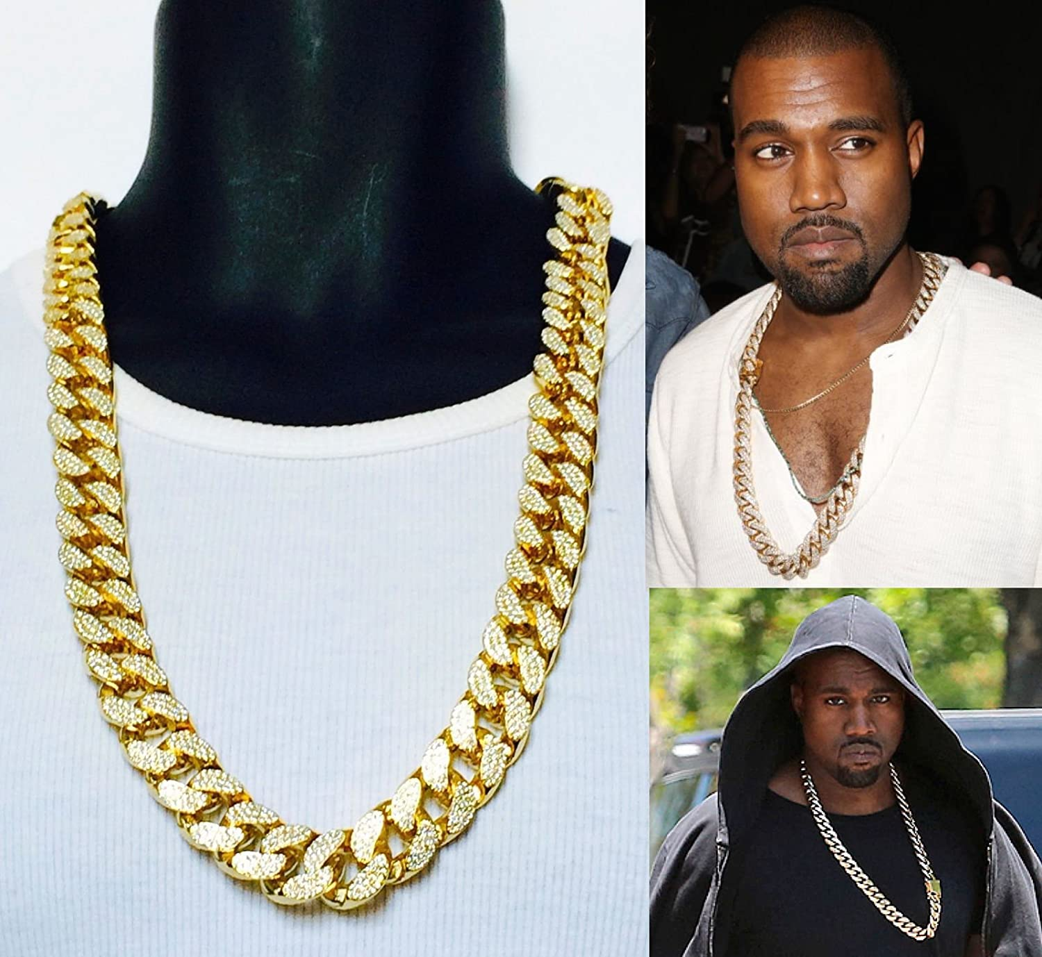 gold chain dp inch cuban mens link greek rapper amazon pendant com god medallion necklace jewelry
