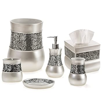 Genial Creative Scents Brushed Nickel Bathroom Accessories Set, 6 Piece Bath Set  Collection Features Soap Dispenser