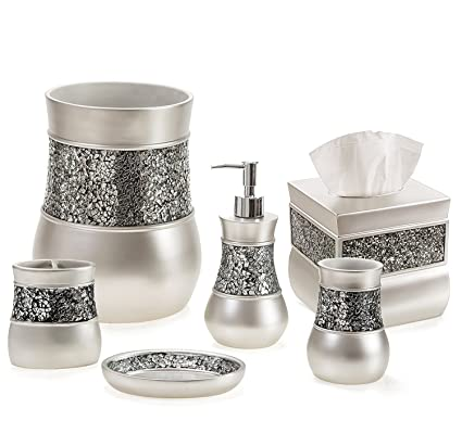 Amazoncom Creative Scents Bathroom Accessories Set Decorative 6