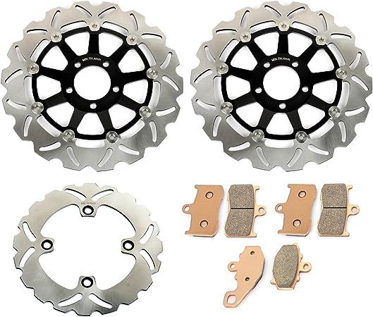 TARAZON 3x Anteriore E Posteriore Disco Dischi Freno Kit per Kawasaki NINJA ZX6R 600 1998 1999 2000 2001// NINJA ZX6R 636 2002// NINJA ZX9R 1998 1999// Z750 Z750S Z1000