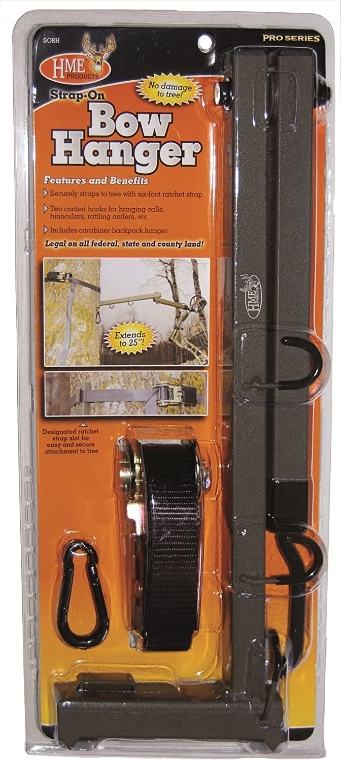 Amazon.com : HME Products Better Strap On Bow Hanger : Hunting Tree Stand  Accessories : Sports U0026 Outdoors