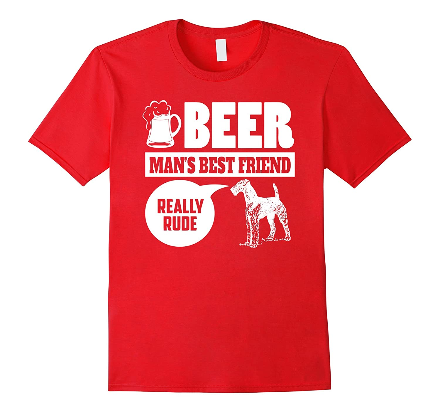 Airedale Terrier Owners Shirt - Beer Mans Best Friend Shirt-TH