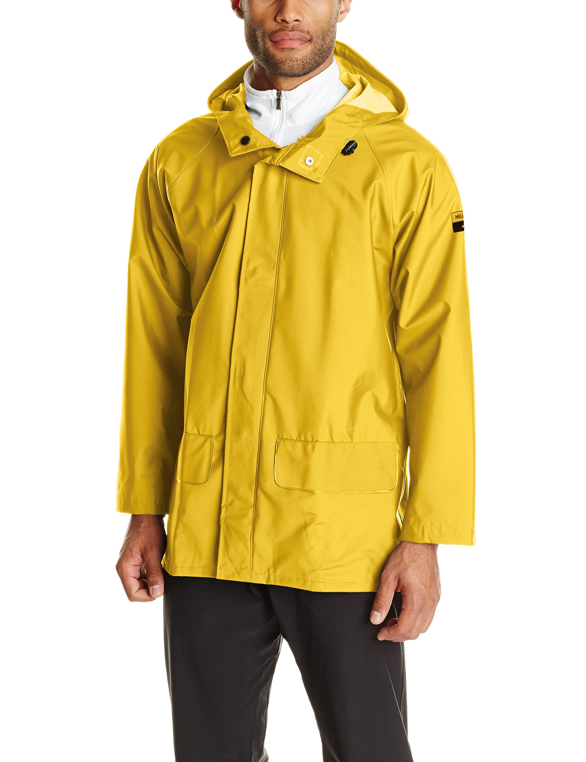 Helly Hansen Workwear Men's Mandal Rain Jacket, Light Yellow, 4X-Large