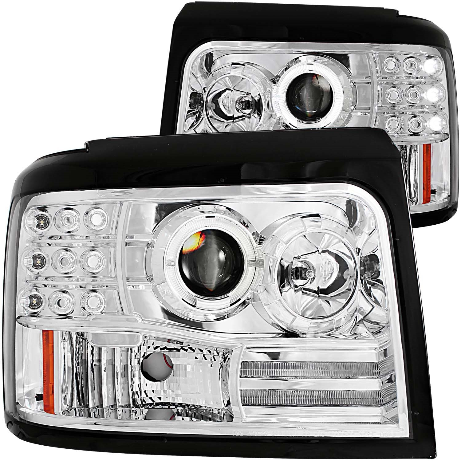 Amazon AnzoUSA Chrome Projector Halo Headlight with Side