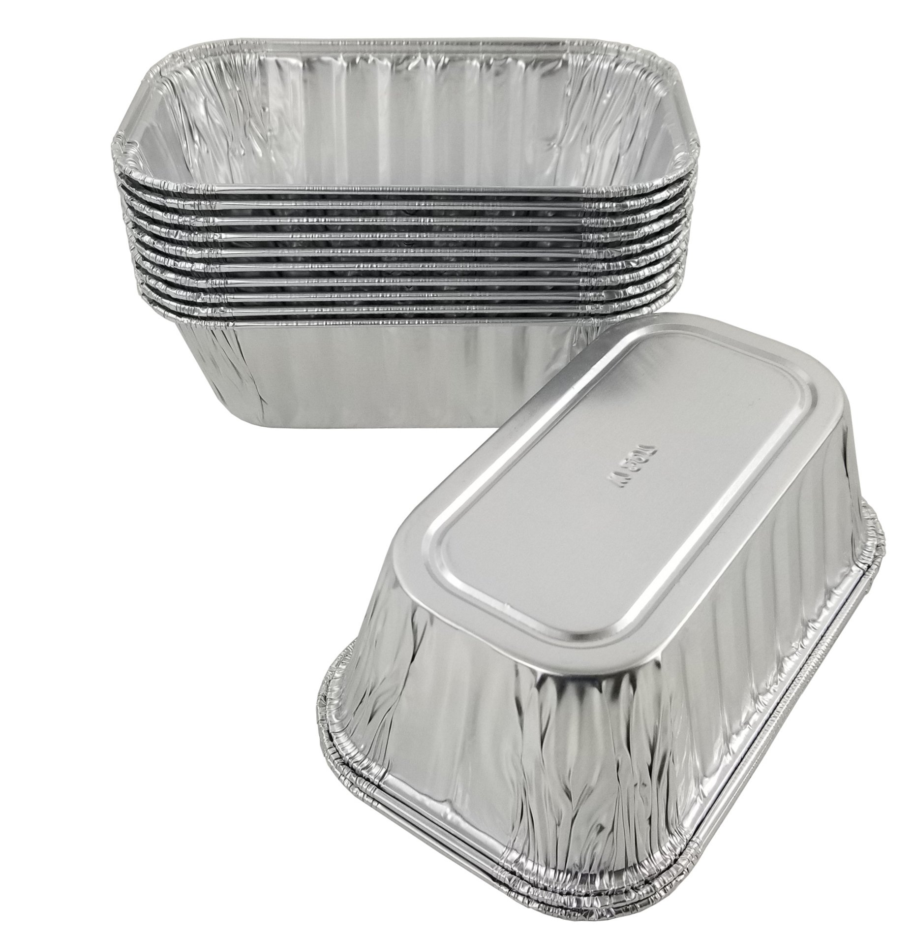 Pactogo Disposable 1 lb. Aluminum Foil Mini Loaf Pans with Clear Dome Lids (Pack of 100 Sets) by PACTOGO (Image #5)