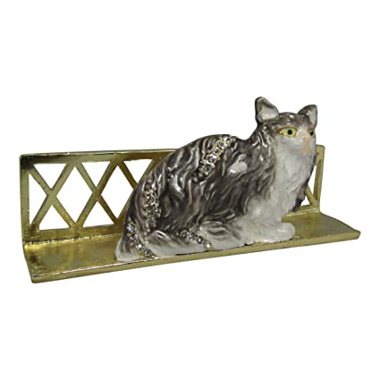 Amazon jeweled cat desk desktop business card holder stand jeweled cat desk desktop business card holder stand reheart Gallery